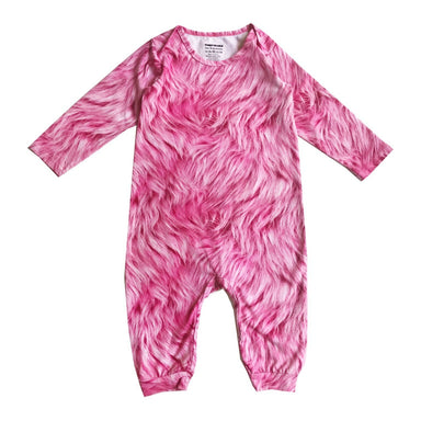 Romey Loves Lulu Pink Faux Fur Onesie on Design Life Kids