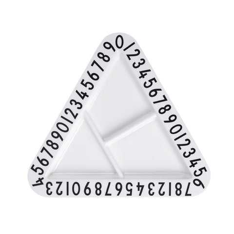 Design Letters Triangle Plate on DLK