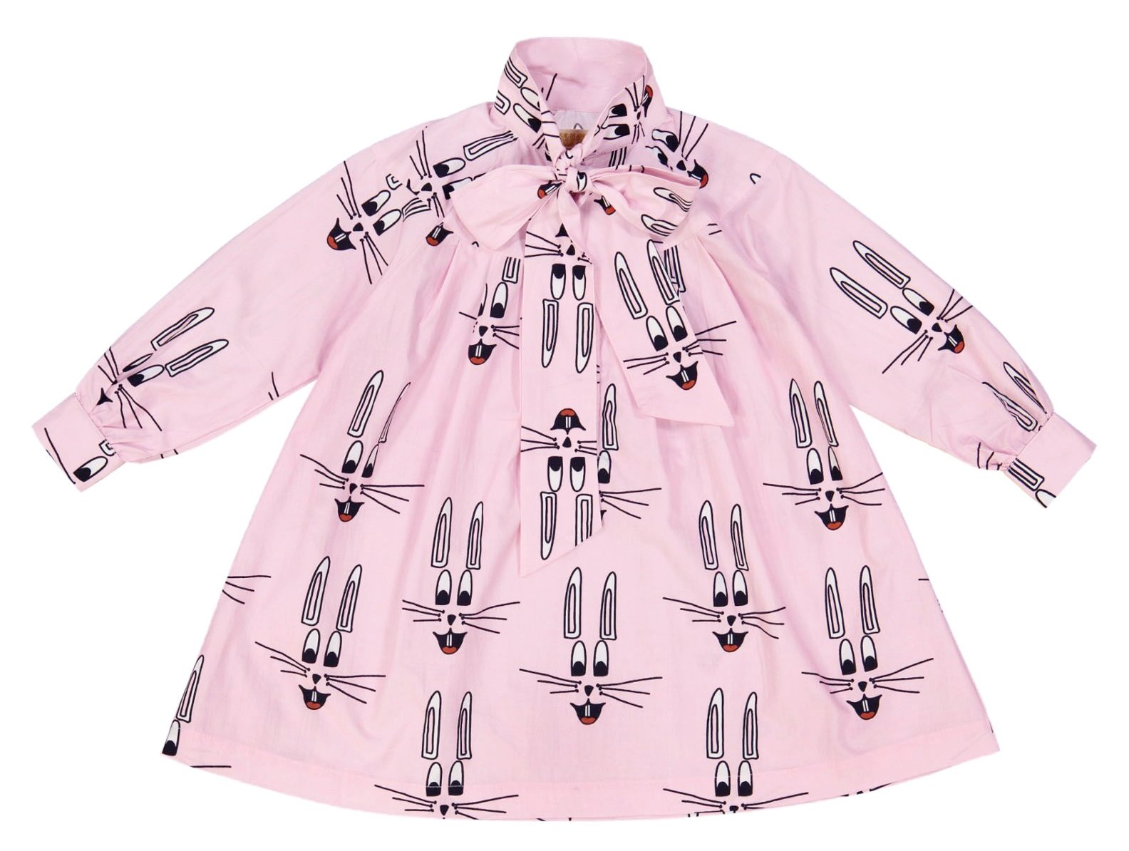 Hugo Loves Tiki Pink Bunny Collared Dress on DLK | designlifekids.com