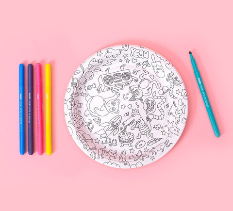 OMY Fun Paper Party Plates on DLK
