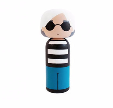 Andy Warhol Kokeshi Doll | Sketch Inc for Lucie Kaas on DLK