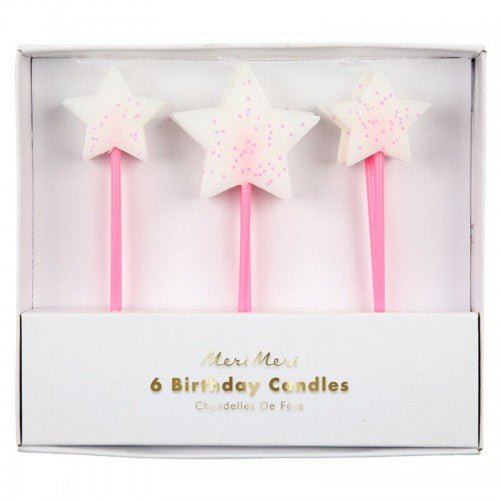 Meri Meri Glitter Star Candles on DLK | designlifekids.com