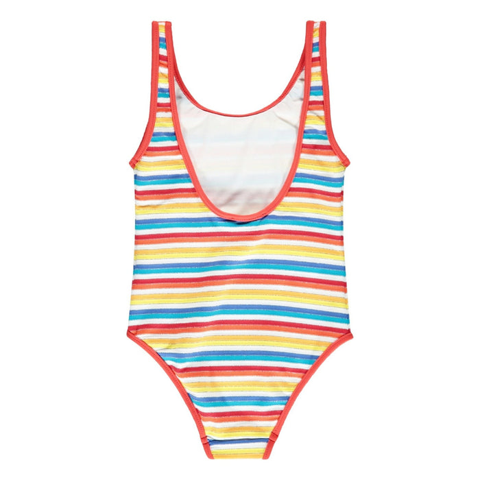 Multicolored Striped Swimsuit