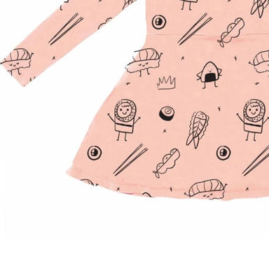Kira Kids Sushi Print Skater Dress on Design Life Kids
