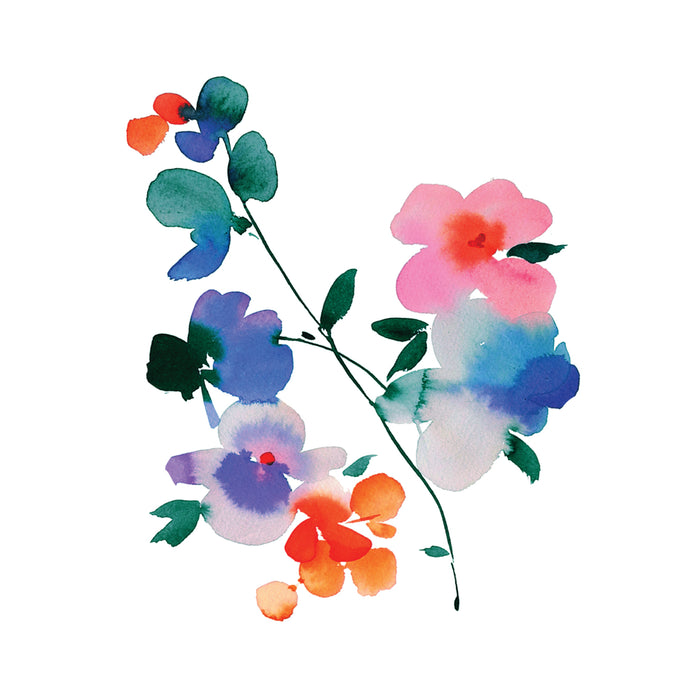 Tattly Blue Orchid Temporary Tattoo at Design Life Kids