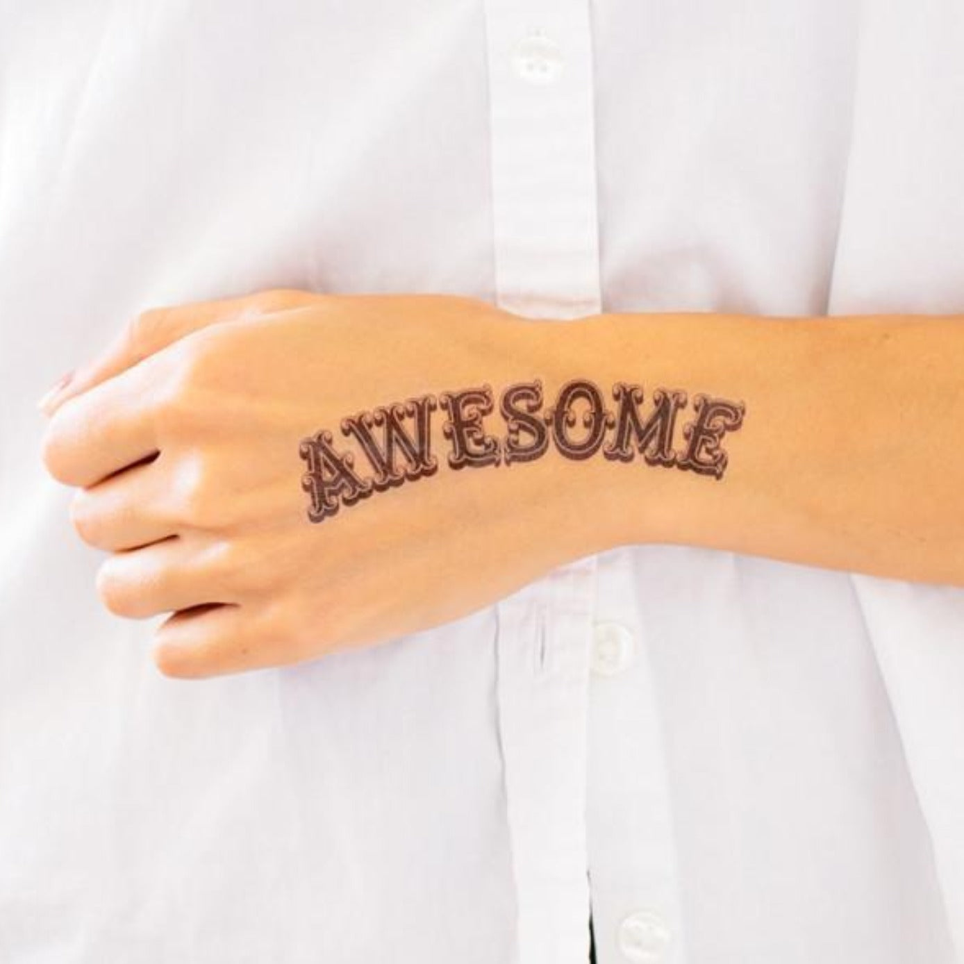 Tattly Awesome Tattoo on DLK