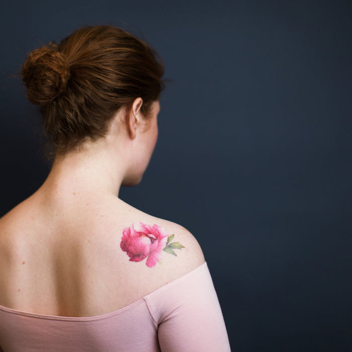 Tattly Pink Peony Scented Tattoo on DLK | designlifekids.com