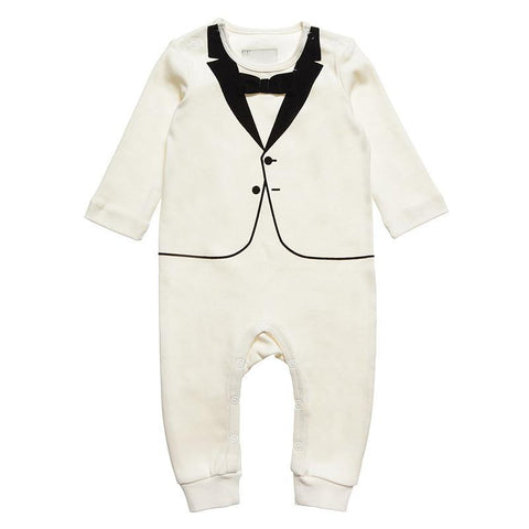 The Tiny Universe White Velvet Tuxedo on DLK | designlifekids.com
