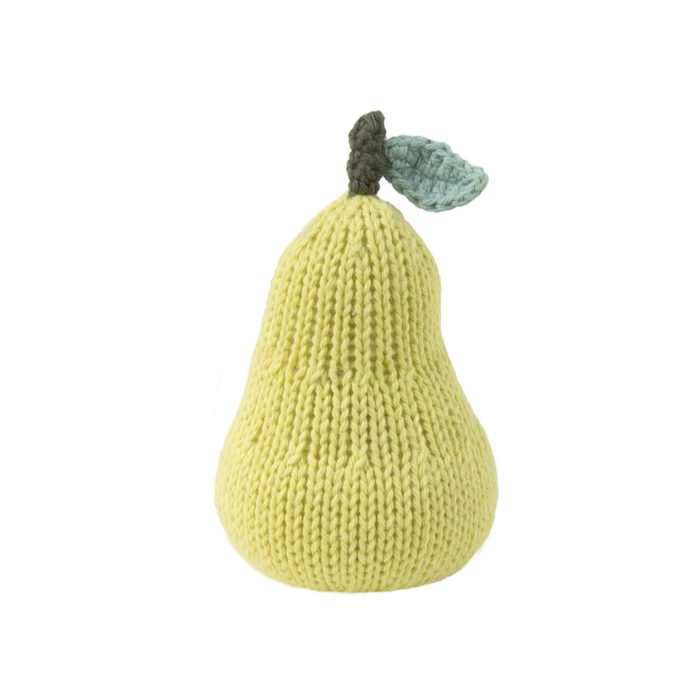 Blabla Hand Knit Pear shaped rattle on Design Life Kids