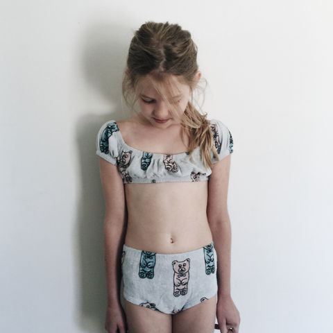 Hugo Loves Tiki Gummy Bear Bikini on DLK