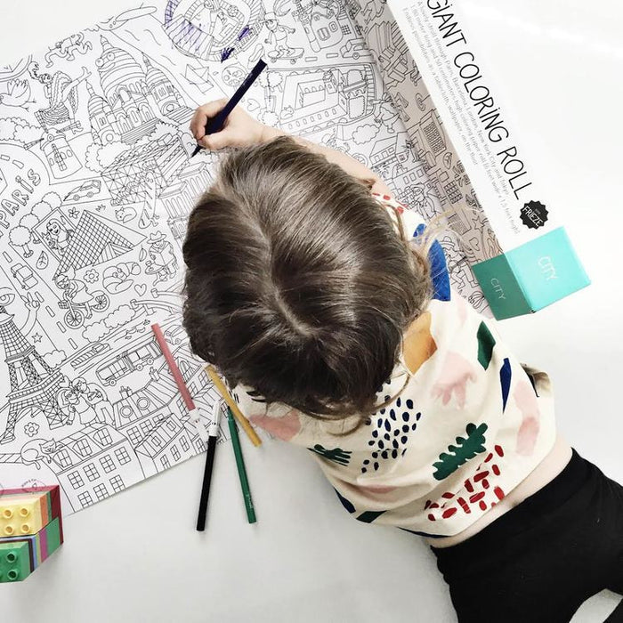 OMY Large CITY Coloring Rolls on DLK