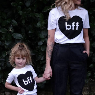 Norfolk BFF Heart Tee Adult/Child on DLK