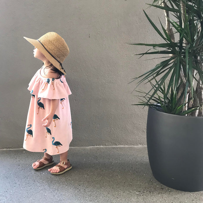 Hugo Loves Tiki Flamingo Dresso on DLK | designlifekids.com