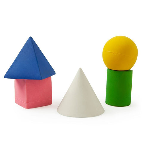 Oil & Carol Geometric Figurines, Bath Toys and Teethers on DLK