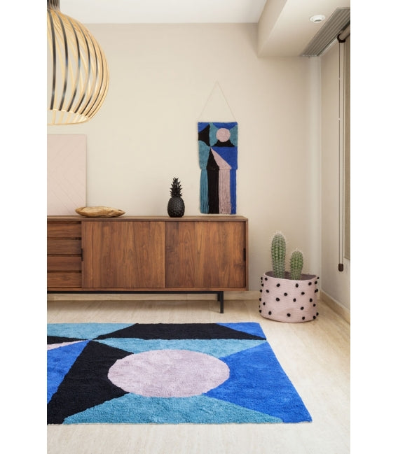 Lorena Canals Washable Geometric Frames Rug on DLK | designlifekids.com