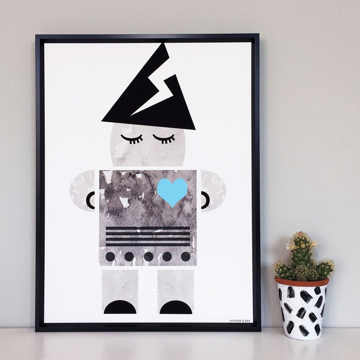 Wonder & Rah Wizard Robot Print Poster on DLK