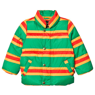 Mini Rodini Stripe Puffer Jacket on Design Life Kids
