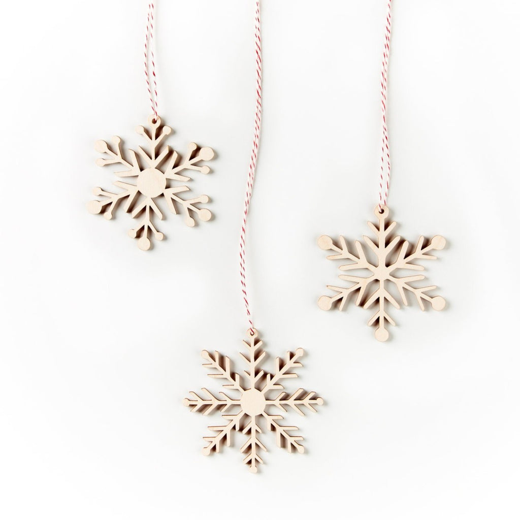 Simple Snowflakes Ornaments