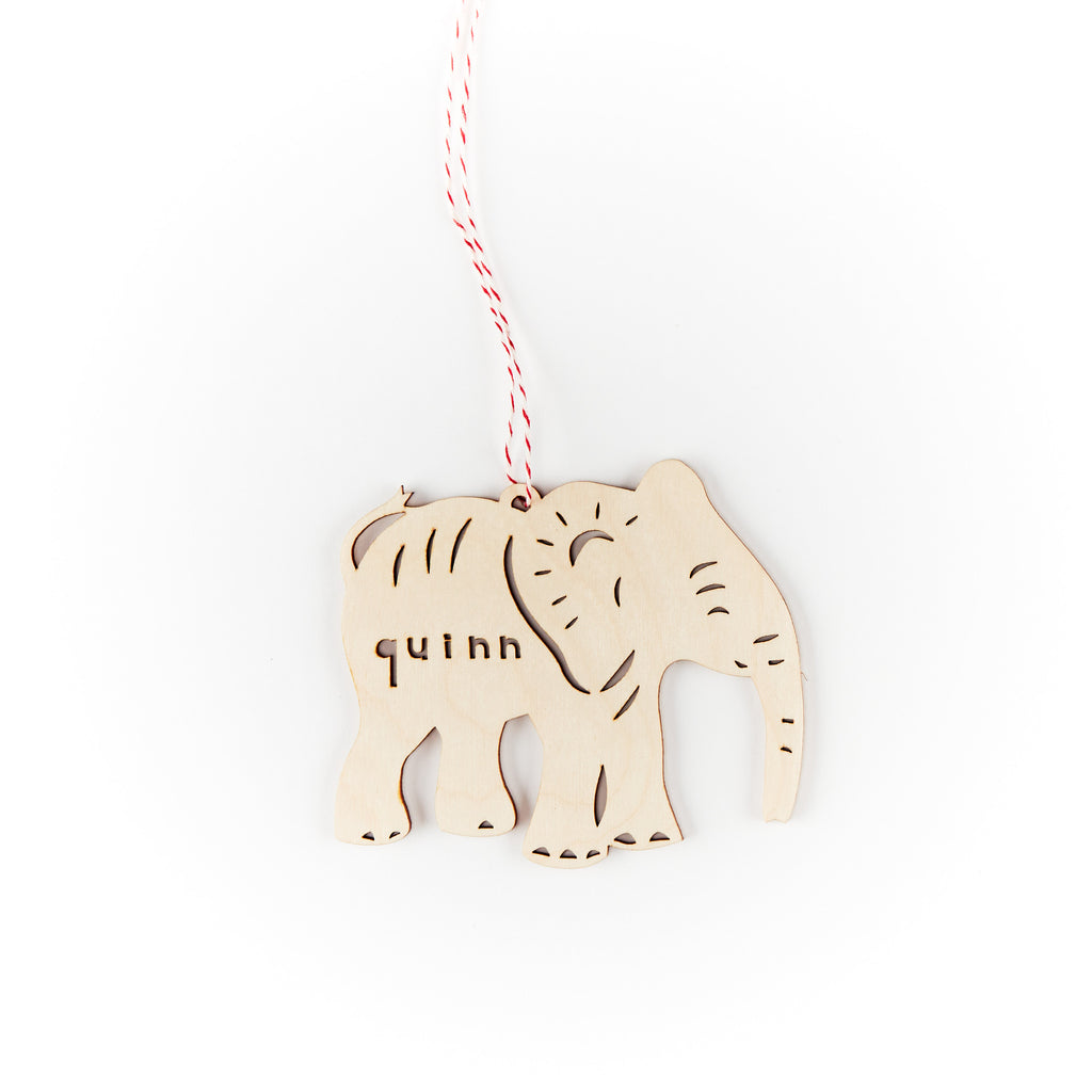 Custom Elephant Ornament