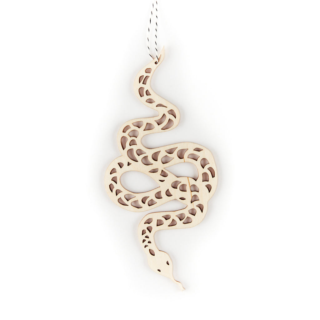 Snake Wooden Ornament