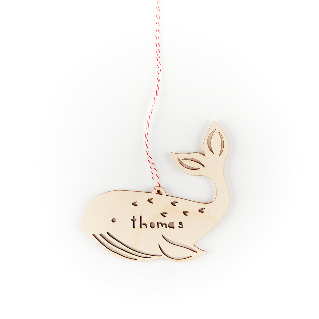 Custom Whale Ornament