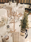 Laser-Cut Birch Wedding Table Numbers