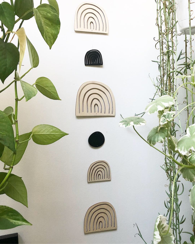 Hanging Lasercut Wooden Artwork - Abstract