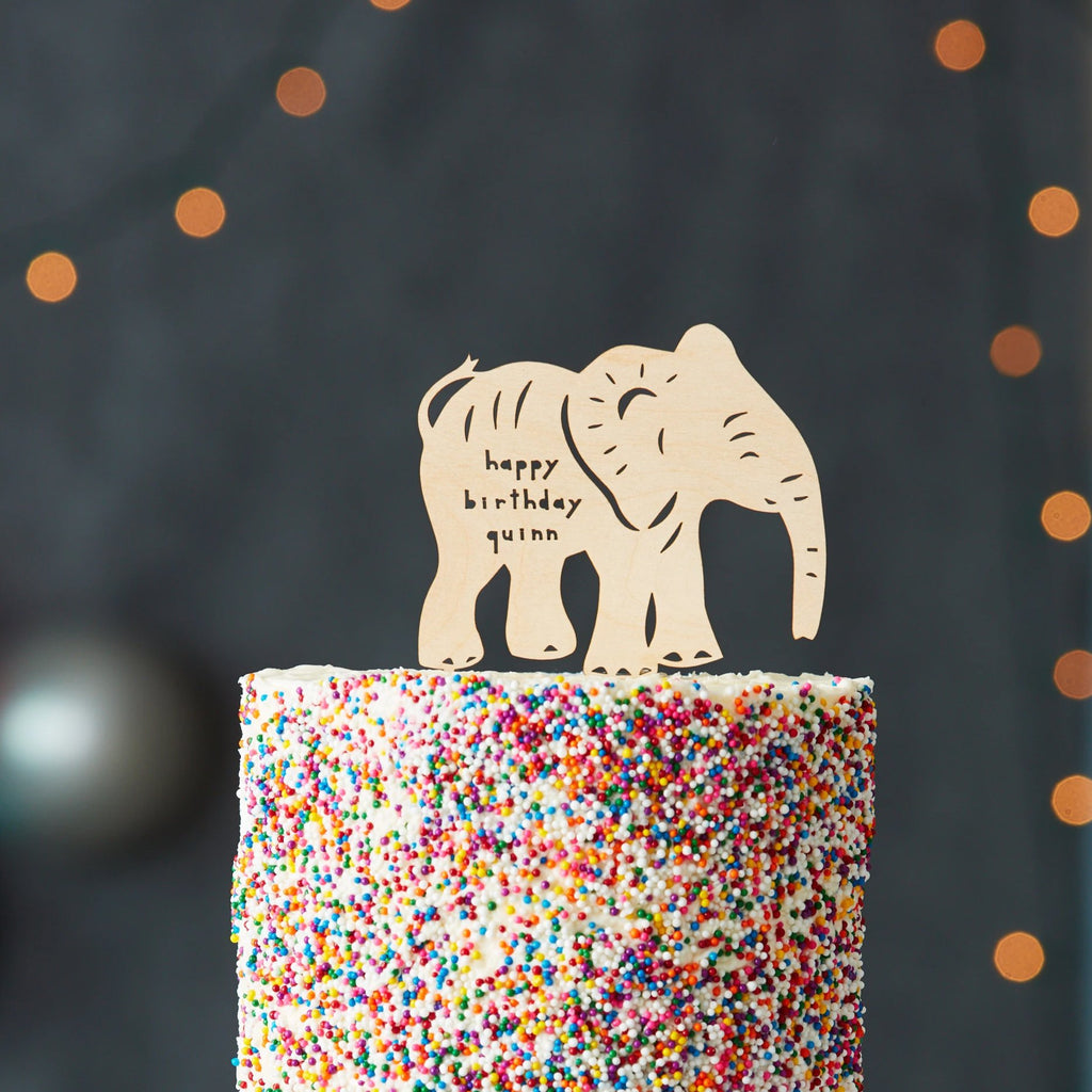 Elephant Baby Birthday Cake Topper