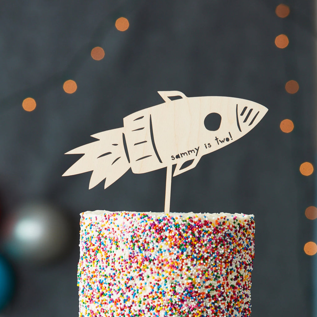 Rocket Ship Cake Topper