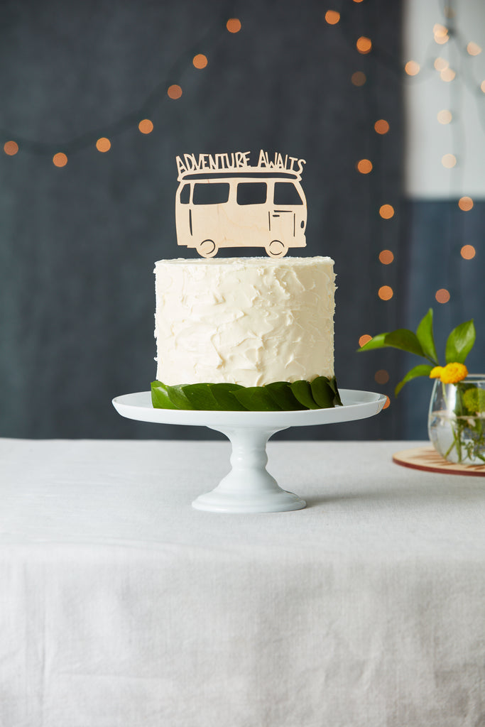Road Trip Camper Adventure Travel Wedding Cake Topper