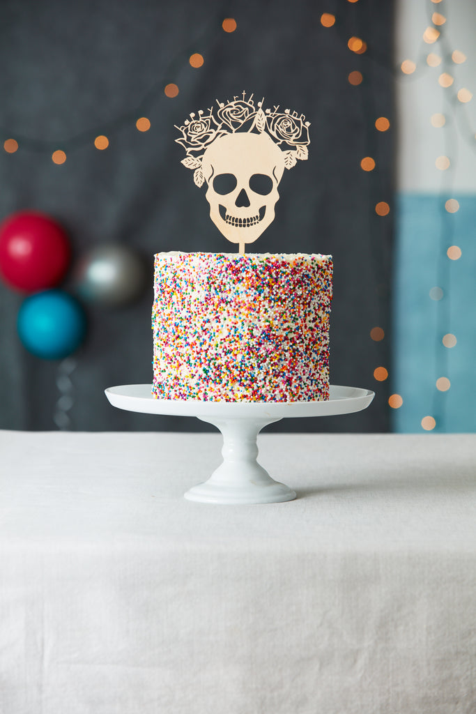 Skull Wedding Cake Topper