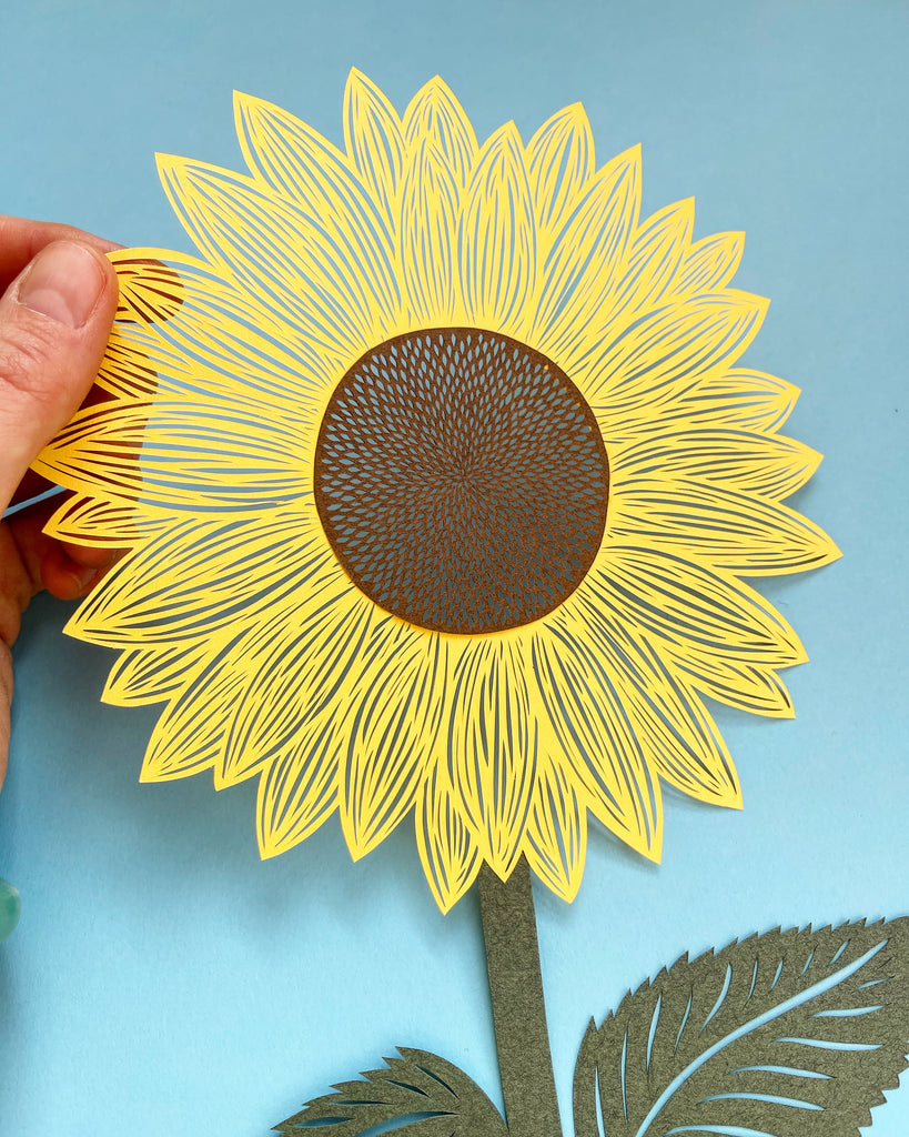 Sunflower Papercutting