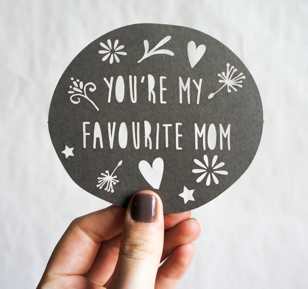 Laser-Cut Pop Out Magnetic Greeting Card - Mother's Day