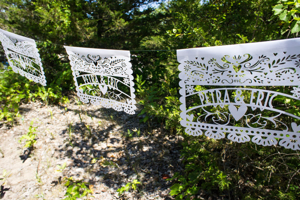 Laser-Cut Papercutting Artwork CUSTOM Papel Picado Mexican Wedding Banner