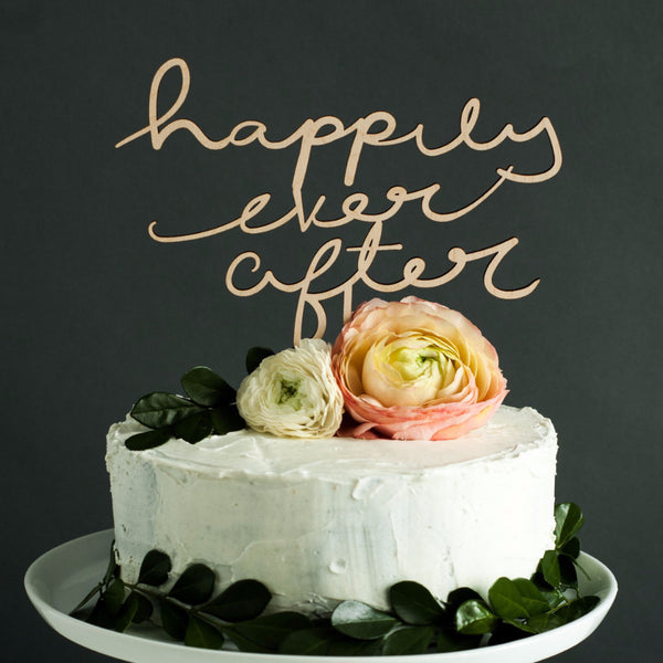 Wedding Cake Topper - Happily Ever After