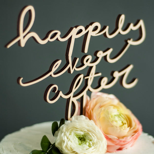 Wedding Cake Topper - Custom Lettering