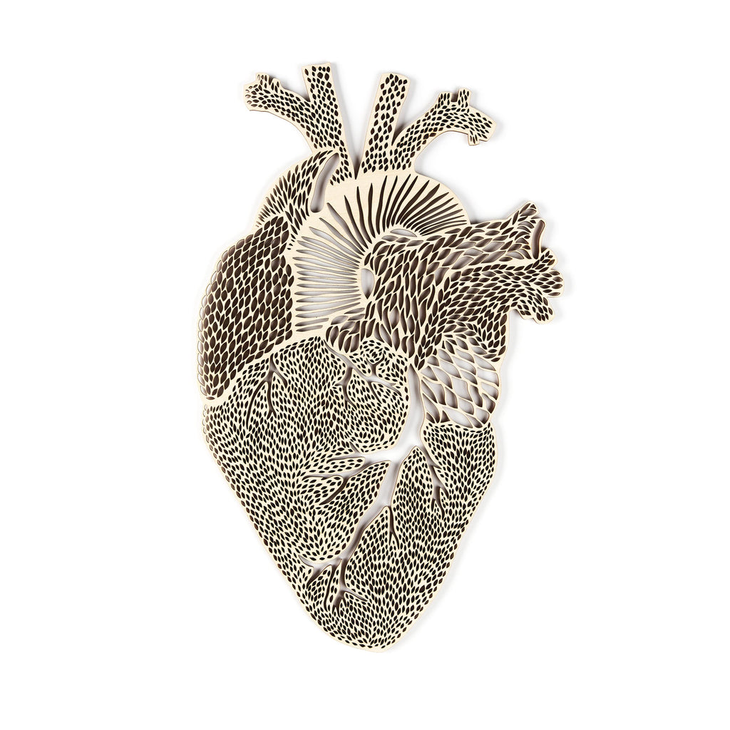 Anatomical Heart Wooden Artwork