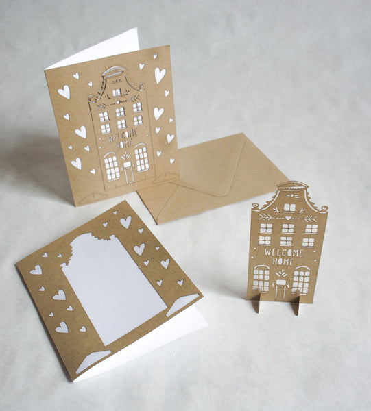 Laser-Cut Pop Out Greeting Card - House Warming