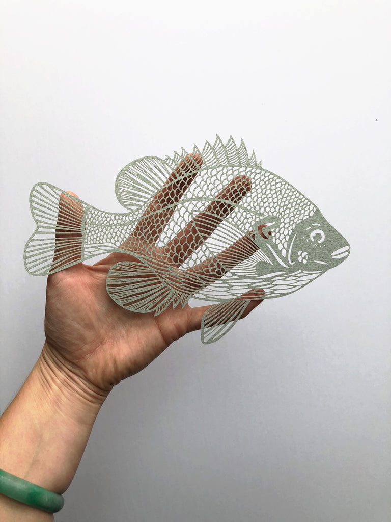 Sunfish Papercutting Artwork