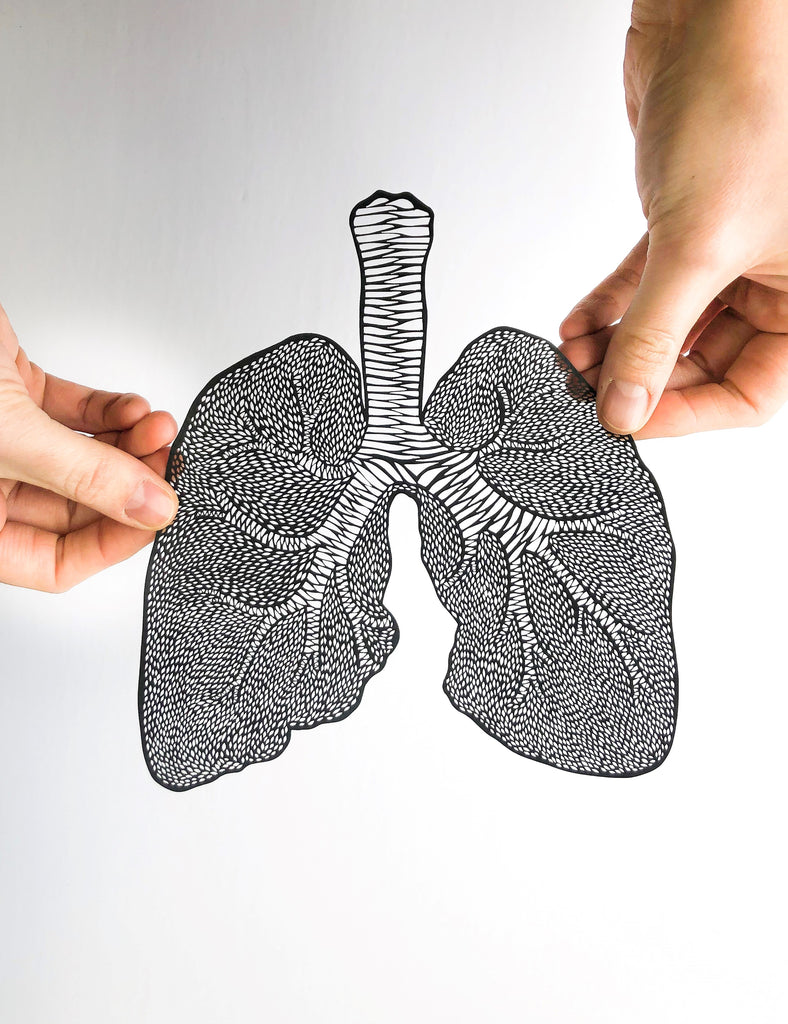 Laser-cut Papercutting Artwork - Anatomical Lungs