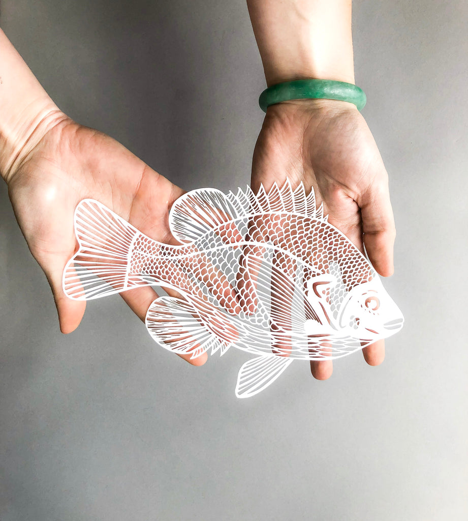 Laser-Cut Papercutting Artwork - Fish