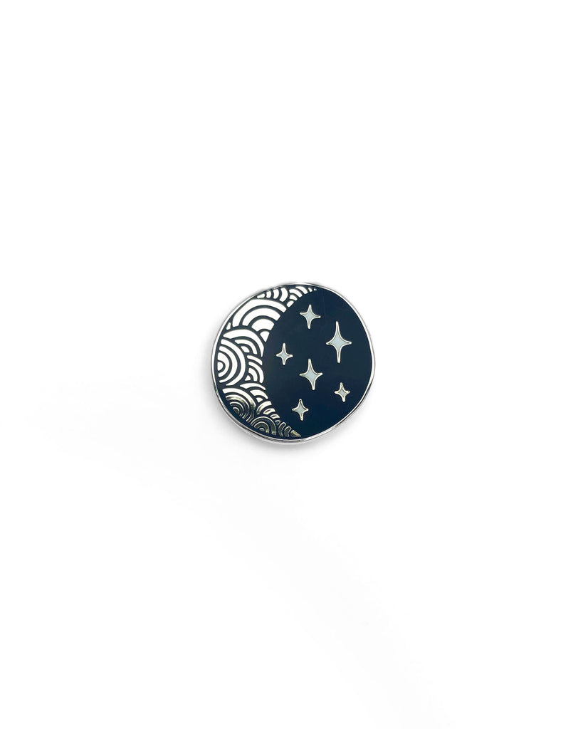 Moon and Stars Enamel Pin