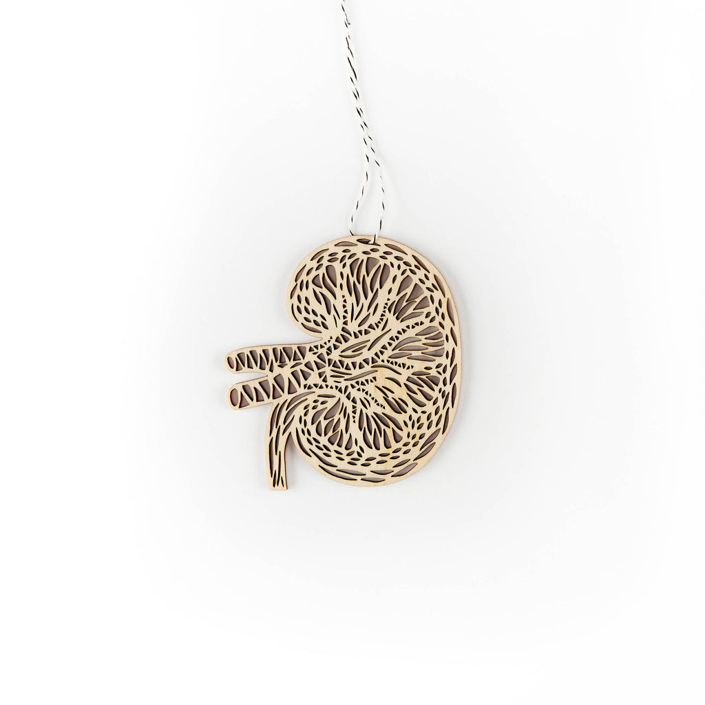 Kidney - Lasercut Mini Wooden Ornament
