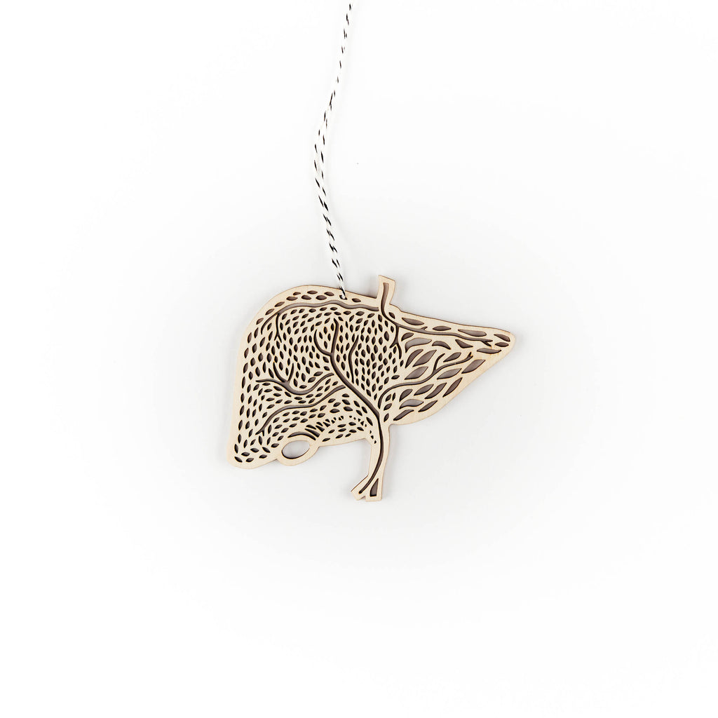 Liver - Lasercut Mini Wooden Ornament