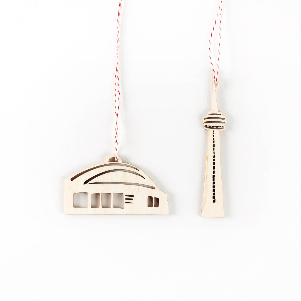 CN Tower and Dome Ornaments