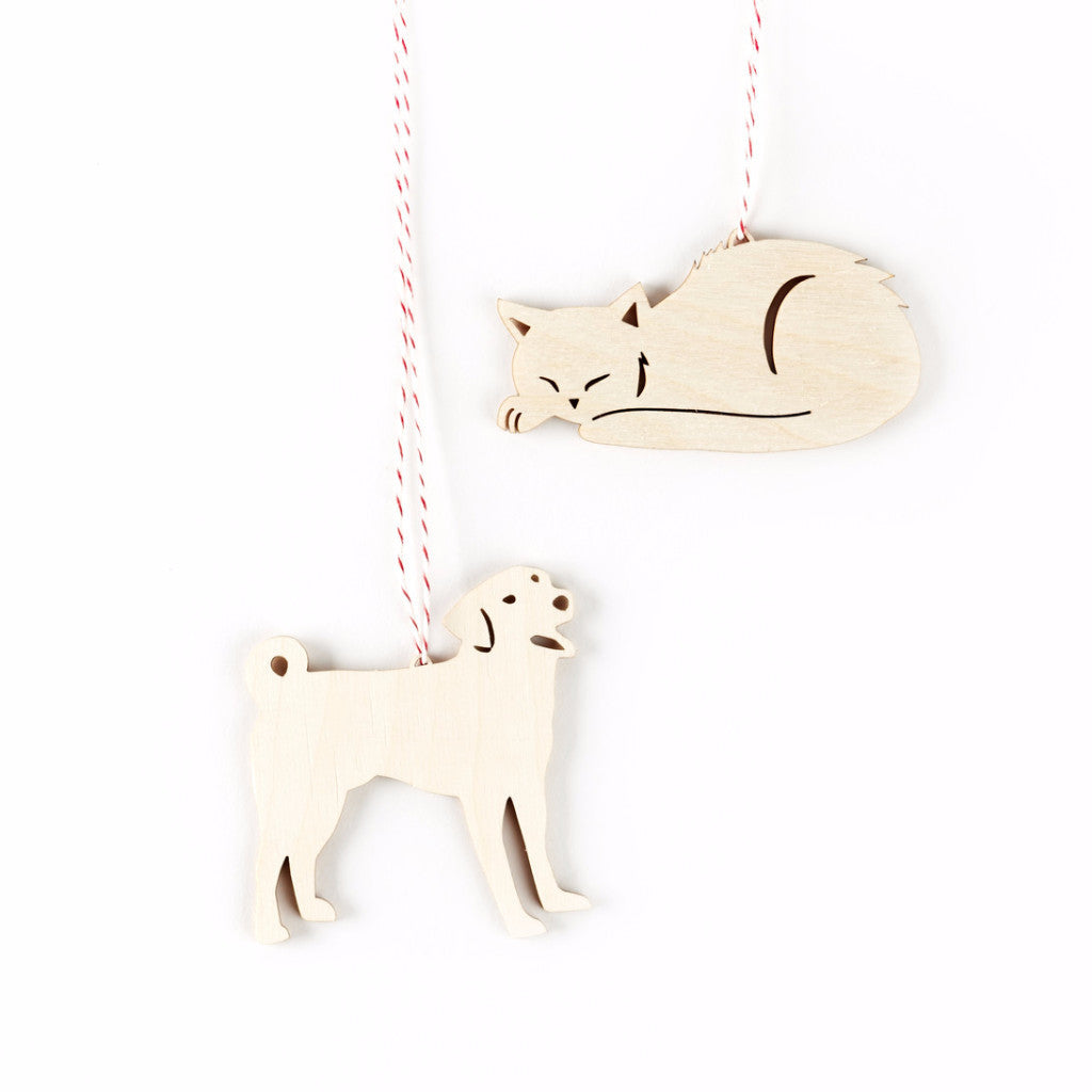 Dog and Cat Ornaments