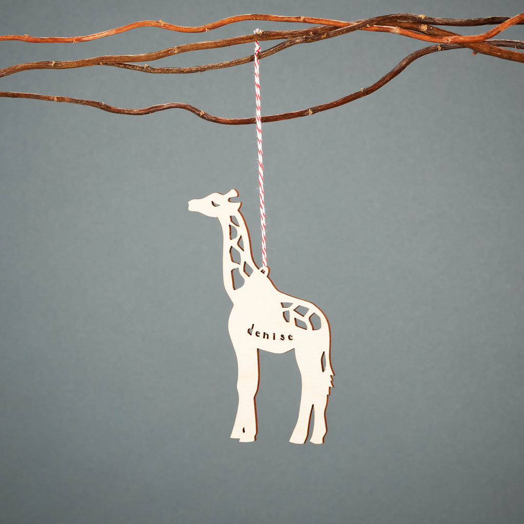 Custom Giraffe Ornament