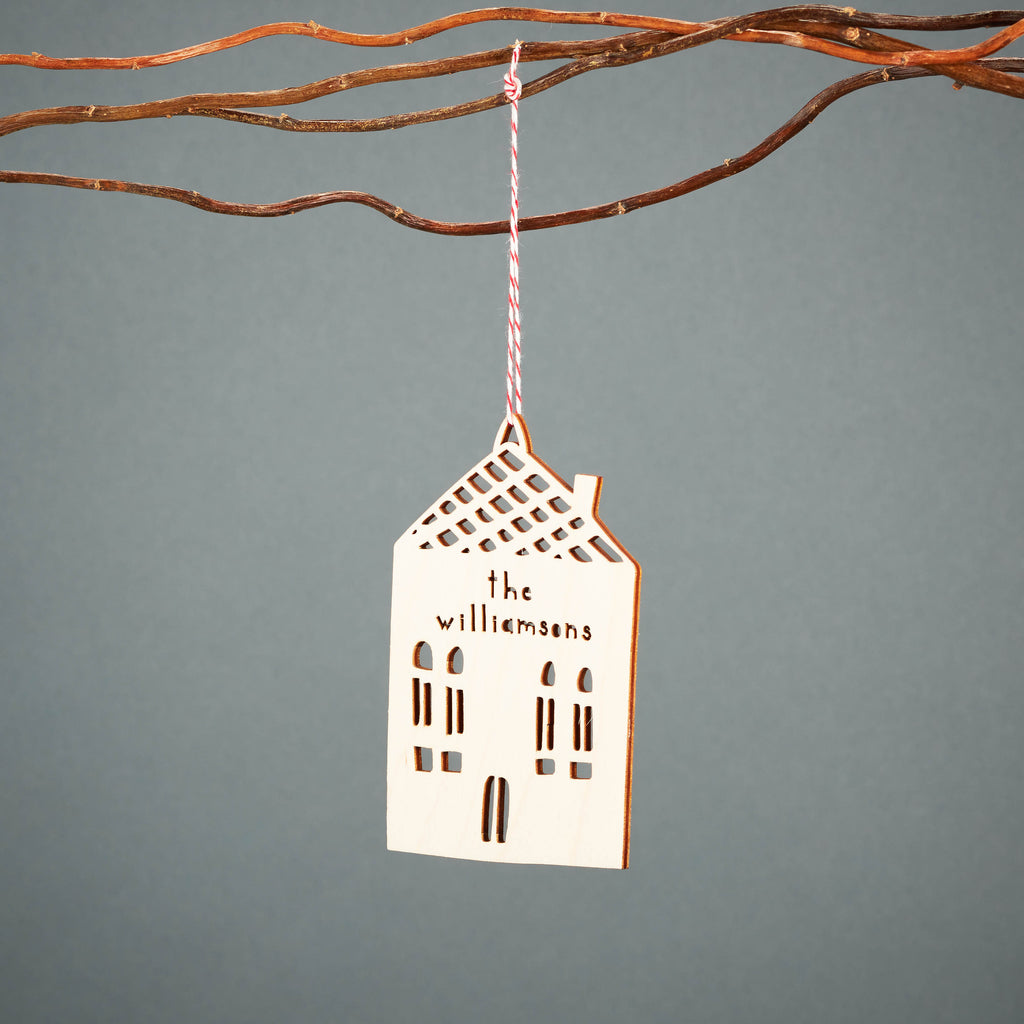 Custom Wide House Ornament