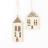 House Ornaments- Lasercut Birch (set of 2)