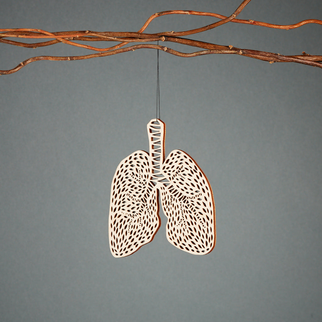 Lungs Ornament Anatomy Collection - Lasercut Birch